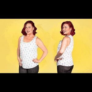 New Betabrand Pin-Up-Girl Tank Top XS